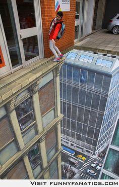 3D Street Art, perspective, chalk art