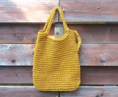 Mustard bags Knitted pouch Handmade cord bag Crochet bag