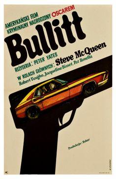 Bullitt, Polish Movie Poster, 1968 Polish Movie Posters, Best Movie Posters, Movie Poster Art, Cool Posters, Art Posters, Steve Mcqueen, Bea Arthur, We Movie, Film Movie