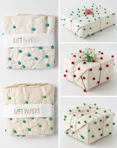 When I saw this wrapping paper at Anthropologie, my eyes nearly popped out of my skull. Amazing paper   the most beautiful and simple packaging (those die cut letters!)...gah...! A gift wrapped in this would be seriously so fun to...