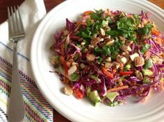 Whole30 from Natalia (She salts/peppers a chicken to add): Thai chopped salad