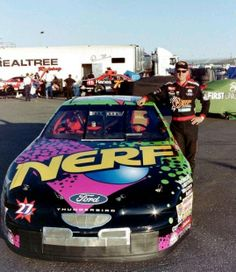 A good shot of Kenny Irwin , that's a career I hated to see cut short Nascar Race Cars, Dad Day, Ford Thunderbird, Paint Schemes, Car And Driver, How To Run Faster, Nerf, Dream Cars, Auto Racing