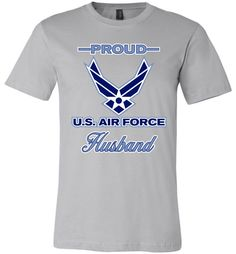 Proud U.S. Air Force Husband Canvas Unisex T-Shirt