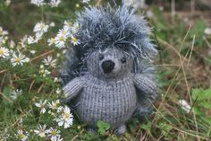 Knitted Porcupine Hedgehog Doll  Amigurumi by HappyKnookCreations, $15.00
