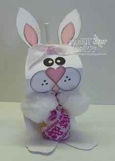 3D DumDum Lollipop Holder, Stampin' Up! products by Debbie Henderson, Debbie's Designs