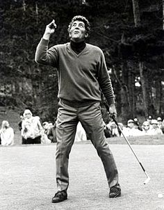 """Dean Martin - """"Bing Crosby Clambake Golf Tounrament Charity Benefit"""" at the Pebble Beach Golf Course in Monterey, California, January 22, 1970"""