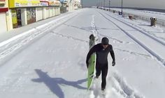 Surfing Ice-Cold Barrels In New Jersey - #cold #surfing #gopro