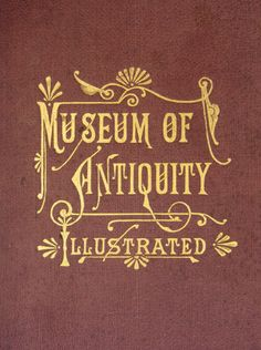 Museum of Antiquity Illustrated, Vintage typography, book cover  #type