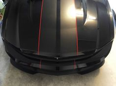 mustang coupe matte black with glossy black stripes red pinstripes - Google Search