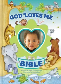 "The God Loves Me Bible, written by Susan Elizabeth Beck and illustrated by Lisa Mallett, is filled with simple, action-filled stories about the lives of more than fifty Bible characters. Each story emphasizes the steadfast theme of the Bible---that God loves his world, his people, and ""me!"""