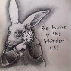 white rabbit alice in wonderland - Szukaj w Google