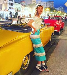 Pin for Later: Forget the Met Gala — Chanel Just Brought the Fashion Party to Cuba Lindsey Wixson channeled the vibe.