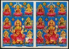 India-1970s-Hindu-poster-SRI-ASTA-LUXMI-by-JB-Khanna-6-5-X-9-5