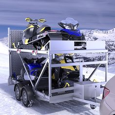Responsible ATV Driving – The Towing Guide Trailer Plans, Trailer Build, Quad Trailer, Toy Hauler Camper, Camper Trailers, Custom Trailers, Custom Trucks, Snowmobile Trailers, Truck Accesories