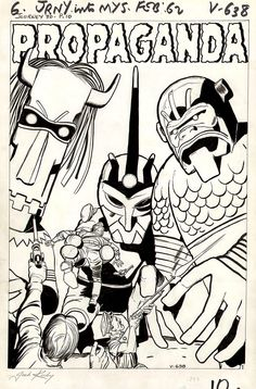 """browsethestacks: Original Art - Journey Into Mystery """"Propaganda"""" Pg 01 by Jack Kirby And Dick Ayers Comic Book Artists, Comic Artist, Comic Books Art, Comic Character, Character Design, Jack King, Jack 2, Jack Kirby Art, Comic Book Collection"""