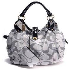 Coach silver signature shoulder bag.