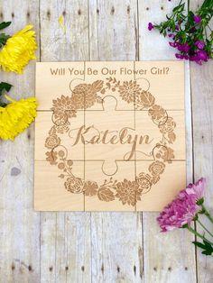 Flower Girl Gift Personalized Puzzle by UrbanFarmhouseTampa