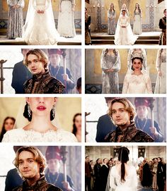 I was strongly against this marriage because Bash was so much nicer, but I guess I'd be okay with it if Francis weren't so unfair and mean to Bash! But I love the dress and hair (even though they belong far away from 16th century but I won't complain about it anymore)
