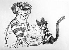 One Punch Man - Puri-Puri Prisoner (bear), Deep Sea King (fish) and Sonic (cat)