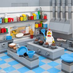 Lego Fast-Food-Restaurant - - New Ideas Lego Duplo, Lego Store, Lego Design, Lego City, Legos, Table Lego, Lego Kitchen, Lego Hacks, Lego Castle
