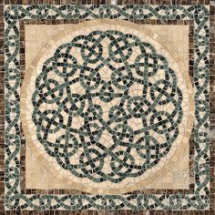 Thornes medallion | New Ravenna Mosaics. Mosaic mandala instead beautiful square design