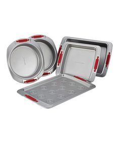 Love this Deluxe Nonstick Baking Set by Cake Boss on #zulily! #zulilyfinds