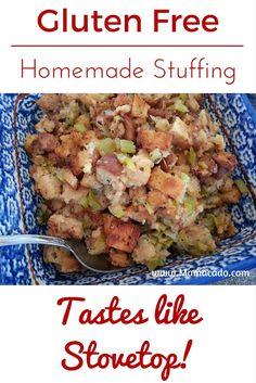 Gluten free homemade stuffing