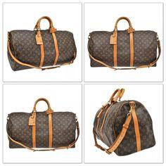 d0f6637da8b3 Louis Vuitton Monogramkeepall 60 Bandouliere Travel Luggage Bag