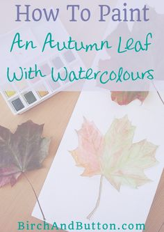 If you'd like to learn how to paint an autumn leaf with watercolours, you're in the right place. It's not as difficult as you might think and it's so satisfying if you love the gorgeous colours that come with the fall season. Click through for the tutorial.