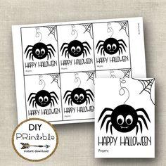 PRINTABLE happy halloween tags printable halloween by luxeprairie