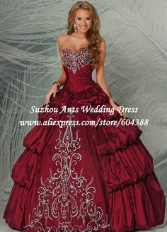 Free Shipping Sweetheart Appliqued Tiered Ball Gown Quinceanera Dresses Short Sleeve vestidos de 15 anos YN550 $259.99