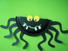 spider paper plate