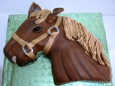 How to make a 2D Horse Cake by Veena's Art of Cakes