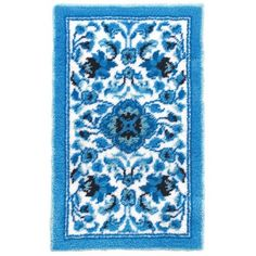 A touch of class in a traditional rug design. Diy Projects Pictures, Latch Hook Rug Kits, Diy Carpet, Traditional Rugs, Rug Hooking, Diy Wall, Diy Design, Knitting, Crochet