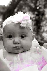 pink, tutu, adorable, headband, idea, love, black and white, Baby Dahlia - KURTIS OSTROM PHOTOGRAPHY