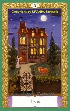 The House - Mystical Kipper, by Urban Troesch. Tarot, Oracle Cards, Booklet, Urban, Frame, Painting, Bates Motel, Decks, Fish