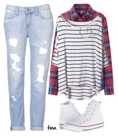 """""""For Her"""" by matulik77 ❤ liked on Polyvore featuring Converse, Uniqlo, Paige Denim, Coco's Liberty and StreetStyle"""
