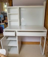 White IKEA Micke Workstation Desk bedroom ikea IKEA MICKE Corner workstation in white with matching filing cabinet