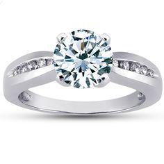 18K White Gold Lyrica Diamond Ring from Brilliant Earth