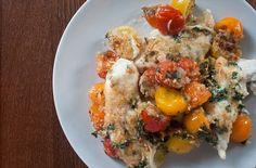 petti di pollo con pomodorini al forno