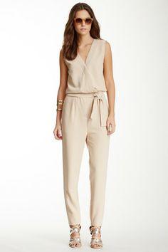 Sleeveless Tie Waist Jumpsuit by Romeo & Juliet Couture on @HauteLook