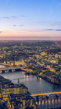 City Lights Cityview River Sunset Blue #iPhone #6 #plus #wallpaper