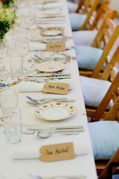 Vintage Wedding Reception or Tea Party.  I love the mismatch table wear