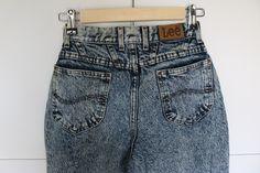 05b4ec8c Vintage Acid wash Lee Jeans. High waisted jeans. Acid wash jeans. Acid  wash. Depop