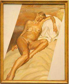 Kate Moss enceinte, peinte par Lucian Freud, dévoilé chez Christies en 2005. (2 Vista press / Action Press / Visual Agency).