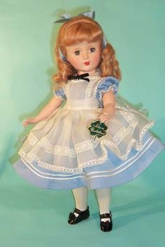 "~ 14"" Hard Plastic ""Alice In Wonderland"" Doll With A ""Margaret"" Face ~ (1947)"