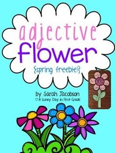 This is a cute little craft to get your kids excited about adjectives! Each child makes their own flower with adjectives that describe them. In my class, I have the kids describe each other. It's so fun and sweet listening to them come up with adjectives to tell about their friends!!