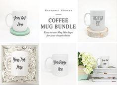 Coffee Mug Bundle | Styled Stock Photography| Mug Mockup | Instagram photos | Product mockup