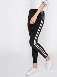 72b5e5b13b1a Side stripe velvet leggings. Leggings Are Not PantsBlue ...