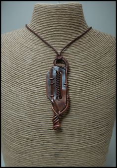 Entirely Reclaimed Copper Pendant Steampunk Fallout by tuskandclaw